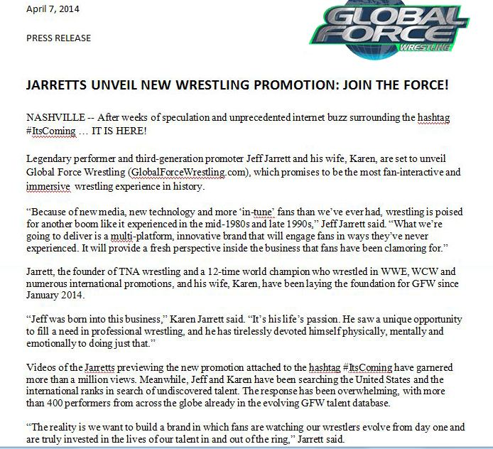 GFW Press Release