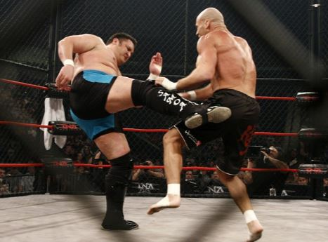Samoa Joe vs Kurt Angle