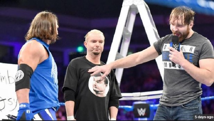 AJ Styles Dean Ambrose James Ellsworth